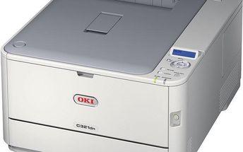 OKI C321dn - 44951534 + Powerbank TP-Link TL-PB5200 5200 mAh (5V/2,4A), bílá v ceně 549,- Kč