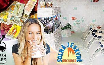 Solná jeskyně s možností výkladu karet! Až 10 vstupů na 45 min. + káva + možnost dárku + poukázka na vybranou kávu!
