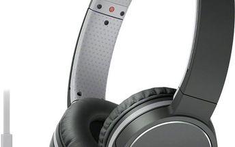 Sony MDR-ZX660AP, černá - MDRZX660APB.CE7 + Sluchátka SONY MDR-EX15LPB, černá