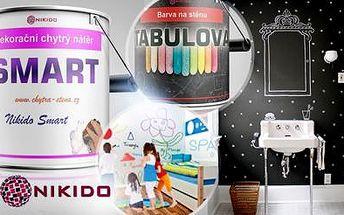 Chytrá stěna pro vaše děti - 1l nátěr nebo barva Nikido pro malování křídou či fixou! Nezávadná a omyvatelná!