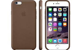Apple Leather Case pouzdro pro iPhone 6 Plus, hnědá - MGQR2ZM/A