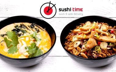 Chutné menu ze Sushitime + domácí nápoj