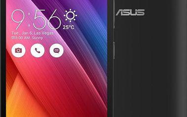 ASUS ZenFone GO ZC-500TG, černá - 90AZ00V1-M00450 + Powerbank ASUS ZenPower 10050 mAh, zlatá, v hodnotě 699,-