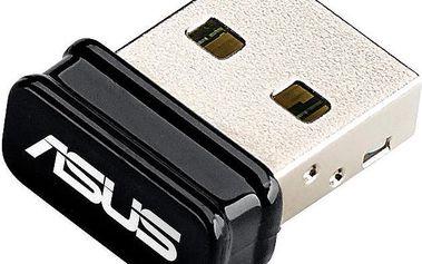ASUS USB-N10 NANO - 90IG00J0-BU0N00 + Kupon Hellspy poukazka na stahování 14GB dat v hodnotě 99,-