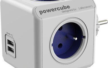 PowerCube ORIGINAL USB rozbočka-4 zásuvka, modrá - PCC-ZUSB