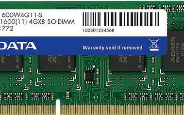 ADATA Premier 4GB DDR3 1600 SO-DIMM CL 11 - AD3S1600C4G11-R