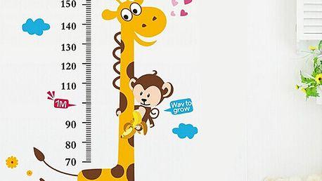 Nalepte.cz žirafa dětský metr 50 x 70 cm