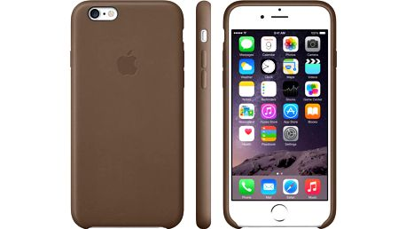 Apple Leather Case pouzdro pro iPhone 6 Plus, hnědá - MGQR2ZM/A