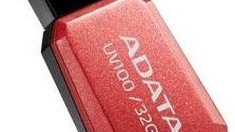 ADATA UV100 32GB, červená - AUV100-32G-RRD