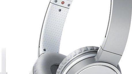 Sony MDR-ZX660AP, bílá - MDRZX660APW.CE7 + Sluchátka SONY MDR-EX15LPB, černá