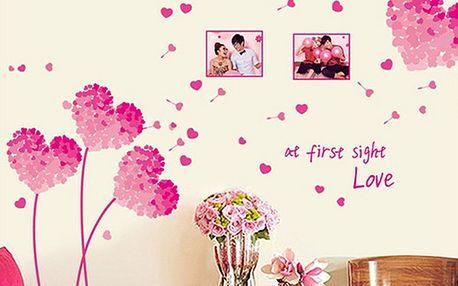 Nalepte.cz Love at first růžová 50 x 70 cm