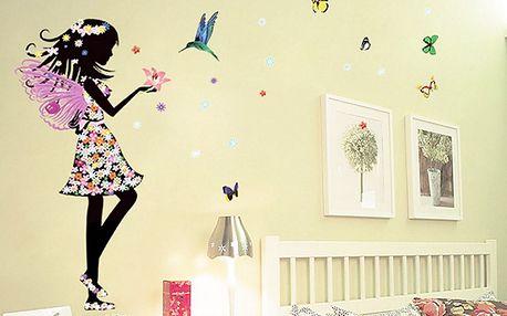 Květinová dívka s křídly 50 x 70 cm
