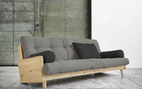 Rozkládací sofa Indie Natural, granite grey/dark grey - doprava zdarma!