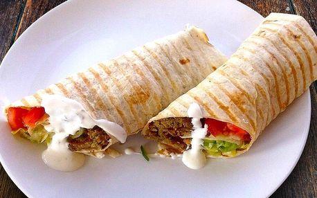 Vegetariánský sandwich – falafel v tortille