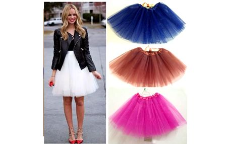 Dámská tylová tutu sukně