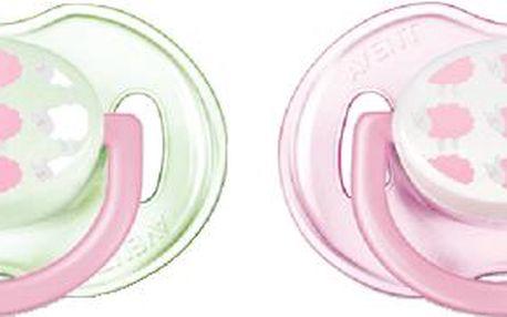 AVENT OBRÁZEK 0-6m. bez BPA bílé/růžové