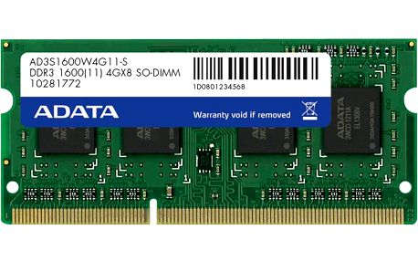 ADATA Premier 4GB DDR3 1600 SO-DIMM CL 11 - AD3S1600C4G11-R