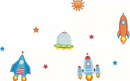Vesmírné raketky 90 x 30 cm