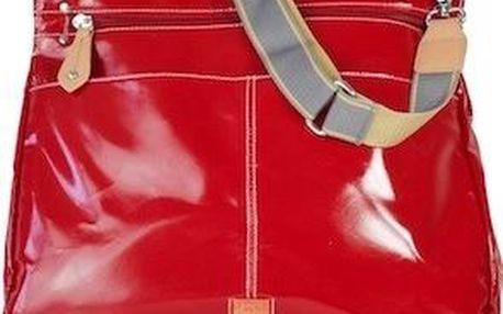 PacaPod OBAN červená - kabelka i přebalovací taška