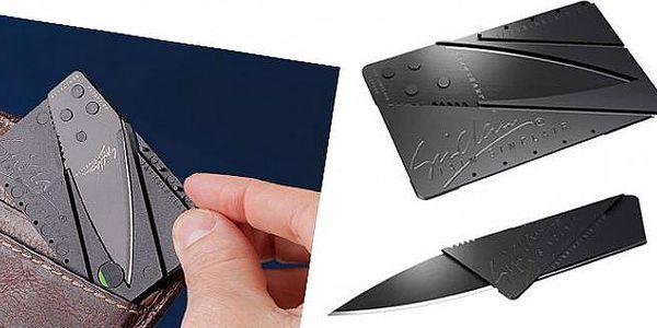 Skládací nůž s nerezovými čepelemi ukrytý v kreditní kartě nabízí široké využití a vejde se do každé peněženky!