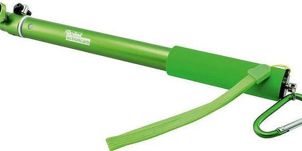 Rollei prodlužovací tyč pro kamery Rollei Actioncam s kulovou hlavou, délka 30-95 cm, zelená - KAMR00141