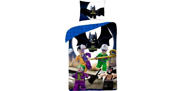 Halantex Dětské bavlněné povlečení Lego Super heroes, 140 x 200 cm, 70 x 90 cm