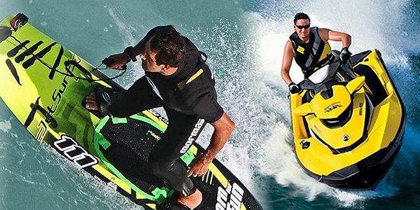 Extrémní vodní sporty Jetsurf nebo vodní skútr! Adrenalin na maximum! Chcete brázdit vodní hladinu na prkně nebo skútru? Zkuste si to a zažijete nezapomenutelný zážitek! Zařádíte si na 4 vodních plochách - Orlická nebo Slapská přehrada, Davle a Živohošť!