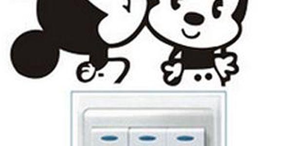 Nalepte.cz Mickey a Minnie 10 x 10 cm