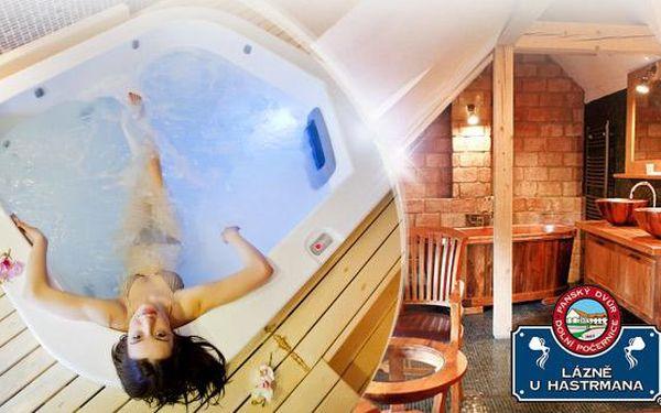 Relaxační balíček pro 1 osobu - sauna, whirlpool a pára bez časového omezení v luxusních lázních U Hastrmana!