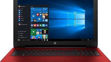 HP 15-af105nc (L2S93EA#BCM) červený + dárek Monitorovací software Pinya Guard - licence na 6 měsíců (zdarma)+ Voucher na skin Skinzone pro Notebook a tablet CZ v hodnotě 399 Kč jako dárek+ dárek Tiskárna multifunkční HP Ink Advantage 2130 A4, 7str./min, 5