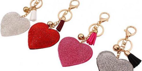Romantický přívěsek na klíče Srdce