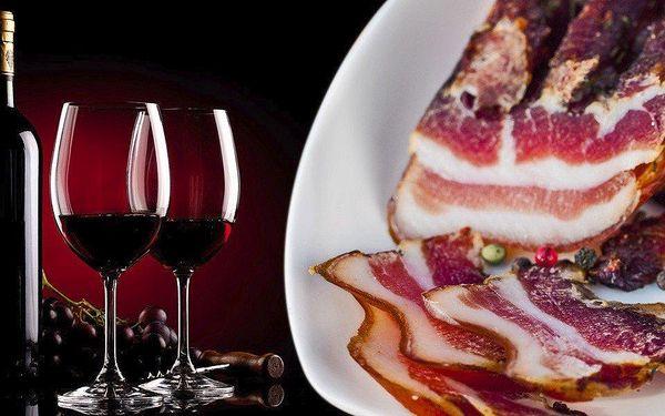Degustace vína pro dva včetně drobného občerstvení