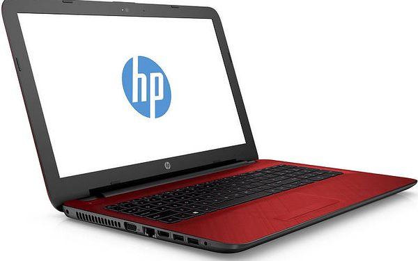 Výkonný Notebook HP 15-af105nc červený + mnoho dárků zdarma