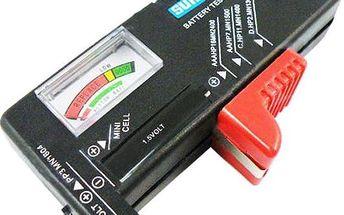 Univerzální tester baterií - dodání do 2 dnů