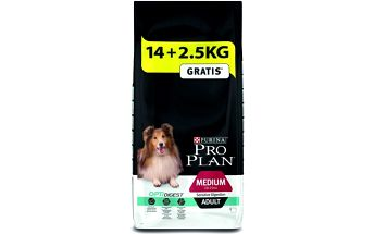 Purina Pro Plan Medium Adult Sensitive Digestion 14 + 2,5 kg Zdarma