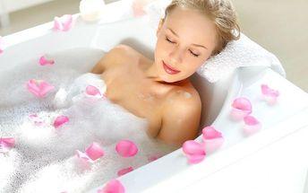 Relaxační koupel dle výběru s masáží zad a šije