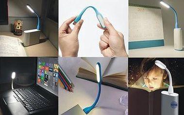 USB lampička k notebooku s led světlem! Skladná, ohebná, výběr z krásných barev!