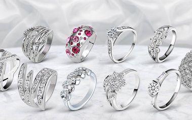 Nádherné dámské prstýnky s českými krystaly