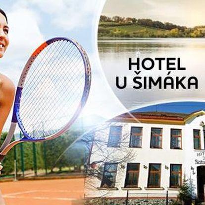 Vysočina pro 2 osoby až na 7 dní s polopenzí a hodinou tenisu. Zvýhodněné vouchery pro děti do 12 let.
