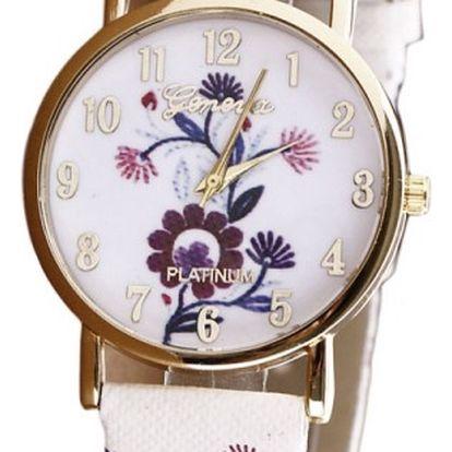 Květinové dámské hodinky v různých barvách