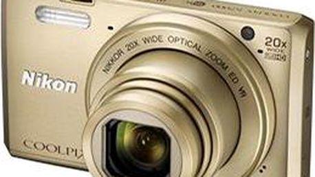 Nikon COOLPIX S7000 zlatý + pouzdro