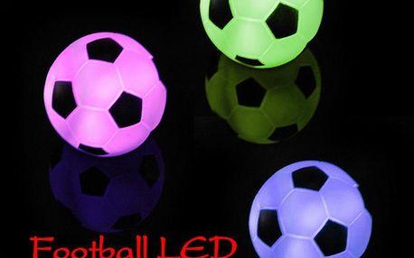 Barevná svítící LED dekorace ve tvaru fotbalového míče