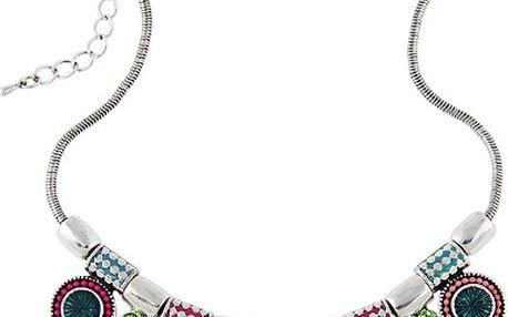 Etno náhrdelník s kulatými přívěsky