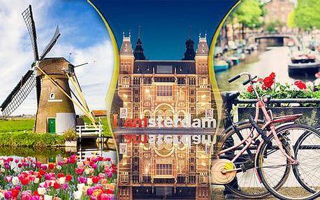 Poznávací zájezd do Amsterdamu a Keukenhofu s dopravou a ubytováním se snídaní