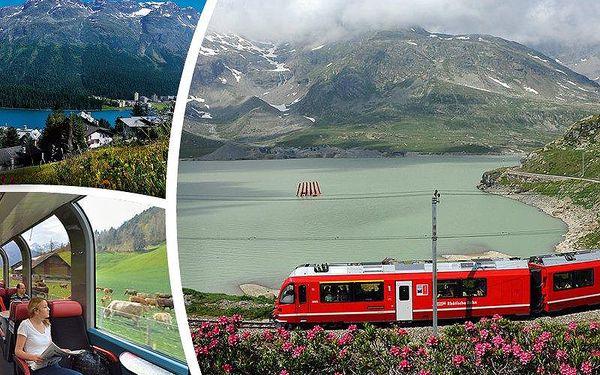 Zájezd do Švýcarska pro 1 osobu na 3 dny s jízdou v panoramatickém vlaku!