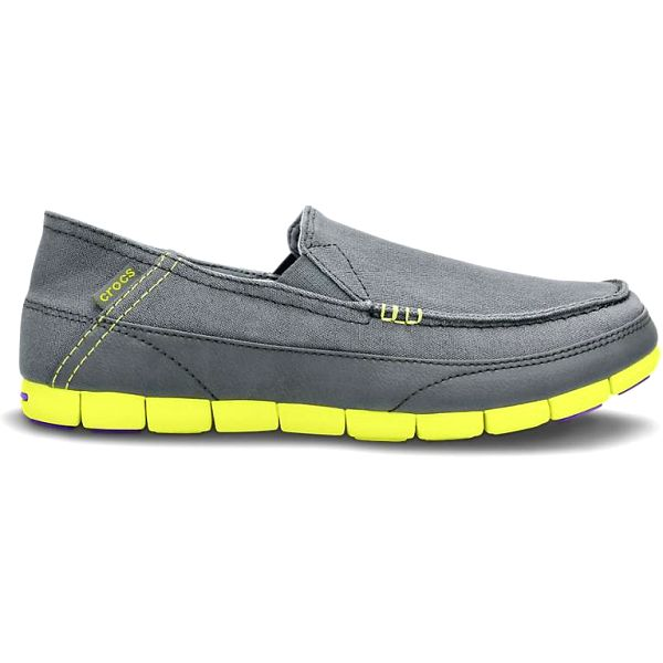 Crocs Men's Stretch Sole Loafer Charcoal/Citrus