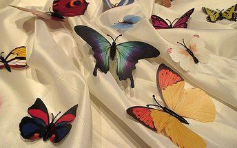 Nalepte.cz 3D dekorace motýli mix barev 12 ks 12 x 10 cm