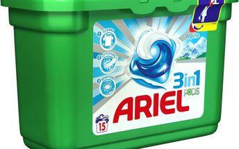 Ariel 3v1 Alpine gelové kapsle na praní prádla 15 kusů