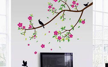Nalepte.cz Větev s květy 150 x 100 cm