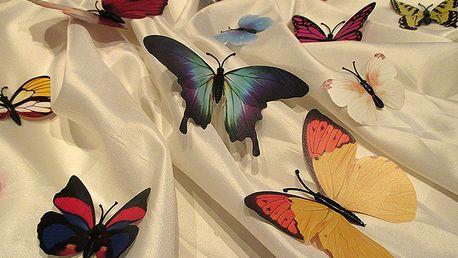 3D dekorace motýli mix barev 12 ks 12 x 10 cm